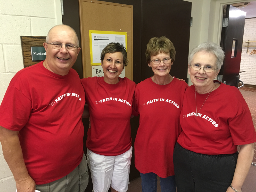 The leaders of Faith in Action Day: Galen Eberhart, Nora Maupin, Jayne McCellen, Marge Norris.